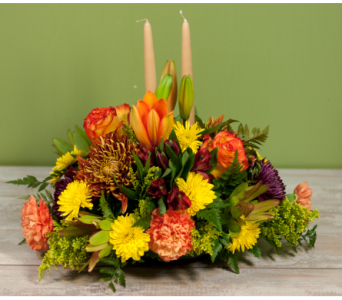 The Massapequa Thanksgiving Centerpiece in Merrick NY, Feldis Florists