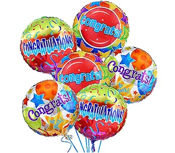 'Congratulations!' Balloon Bouquet (6 mylars)