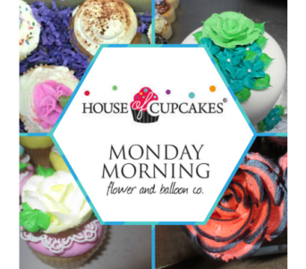 Flower Box of Cupcakes in Princeton, Plainsboro, & Trenton NJ, Monday Morning Flower and Balloon Co.