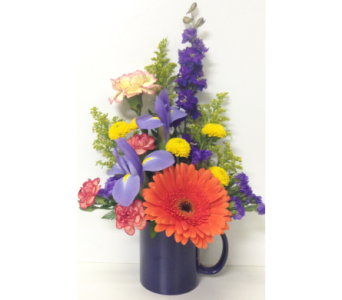 Bright & Cheery Mug Bouquet - Designed One-Sided in Wyoming MI, Wyoming Stuyvesant Floral