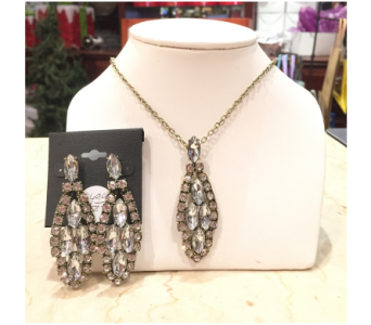 Bling - Rhinestone Necklace and Earring Set in Princeton, Plainsboro, & Trenton NJ, Monday Morning Flower and Balloon Co.