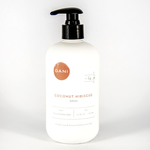 DaniBath Coconut Hibiscus Body Lotion in Kentfield CA, Paradise Flowers