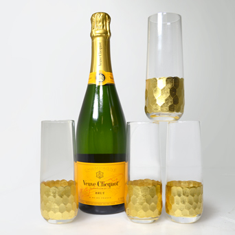 Stemless Champagne Flutes in Dallas TX, Dr Delphinium Designs & Events