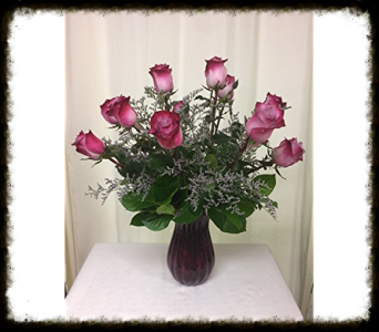 DEEP PURPLE ROSES in Titusville FL, Floral Creations By Dawn