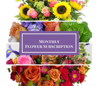 Monthly Floral Subscription in Silver Spring MD, Bell Flowers, Inc