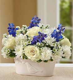 Peace and Healing-Blue & White in Camp Hill and Harrisburg PA, Pealer's Flowers