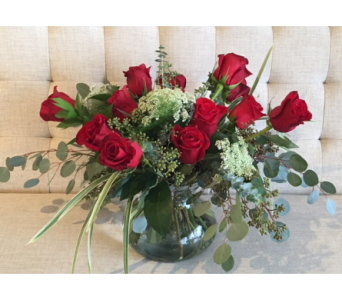 Garden Style Red Roses in Charleston SC, Tiger Lily Florist Inc.