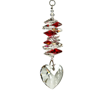 Crystal Cascade Heart Ruby in Port St Lucie FL, Flowers By Susan