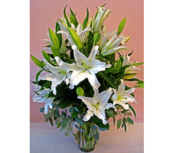 Garden of White Lilies in San Francisco CA, Fillmore Florist
