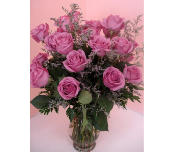 Eighteen Lavender Roses in San Francisco CA, Fillmore Florist