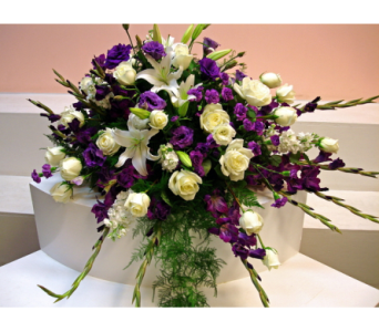 Purple and White Spary in San Francisco CA, Fillmore Florist