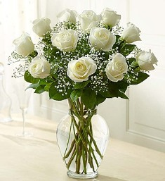 Premium Long Stem White Roses in Camp Hill and Harrisburg PA, Pealers Flowers