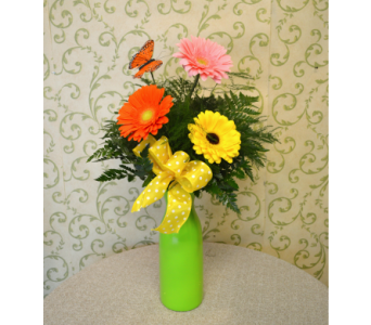 Gerbera Daisy Budvase in Utica NY, Chester's Flower Shop And Greenhouses