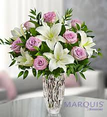 Marquis by Waterford� Purple Rose & Lily Bouquet in Jupiter FL, Anna Flowers