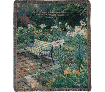 Eternal Springtime Woven Throw in Tipp City OH, Tipp Florist Shop
