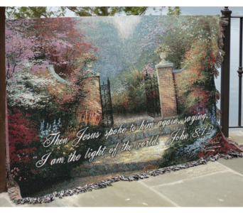 The Victorian Garden Woven Throw in Tipp City OH, Tipp Florist Shop