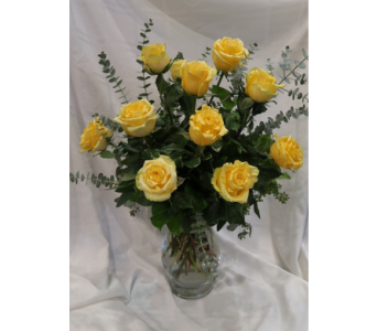 Lively Yellow Rose Bouquet in Princeton, Plainsboro, & Trenton NJ, Monday Morning Flower and Balloon Co.