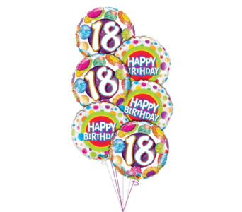 18th Birthday Balloon Bouquet in Princeton, Plainsboro, & Trenton NJ, Monday Morning Flower and Balloon Co.