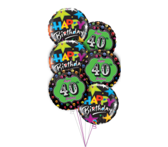 40th Birthday Balloon Bouquet in Princeton, Plainsboro, & Trenton NJ, Monday Morning Flower and Balloon Co.