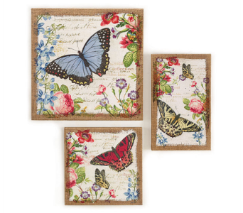 Canvas Butterfly Wall Hangers in Princeton, Plainsboro, & Trenton NJ, Monday Morning Flower and Balloon Co.