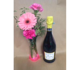 Prosecco and Flowers in Portland OR, Portland Florist Shop