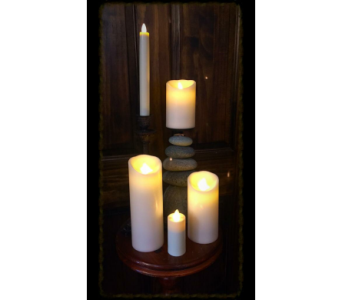 Moving Flame Candles in Wilmington IL, The Flower Loft Inc