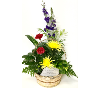 Sympathy Planter with Garden Stone- 10 inch basket in Wyoming MI, Wyoming Stuyvesant Floral