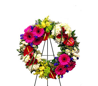 Colorful Wreath in Randallstown MD, Raimondi's Funeral Flowers