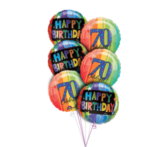70th Birthday Balloon Bouquet in Princeton, Plainsboro, & Trenton NJ, Monday Morning Flower and Balloon Co.