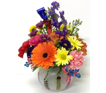 Birthday Candles Celebration Bouquet - All-Around in Wyoming MI, Wyoming Stuyvesant Floral