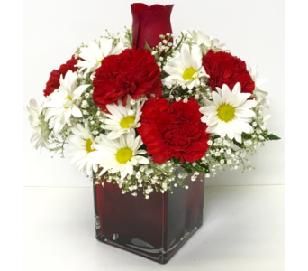 For the Love of Red 4x4 Red Cube - All-Around in Wyoming MI, Wyoming Stuyvesant Floral