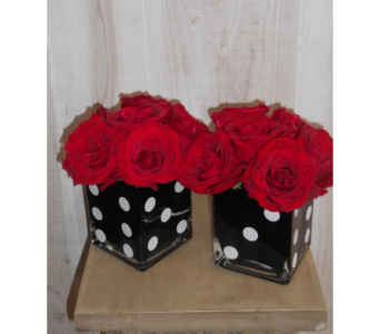 Pair of Dice in Dallas TX, Petals & Stems Florist