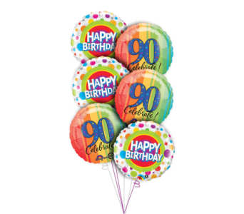 90th Birthday Balloon Bouquet in Princeton, Plainsboro, & Trenton NJ, Monday Morning Flower and Balloon Co.