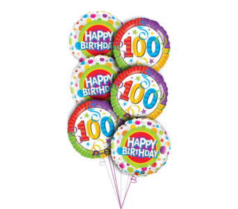 100th Birthday Balloon Bouquet in Princeton, Plainsboro, & Trenton NJ, Monday Morning Flower and Balloon Co.