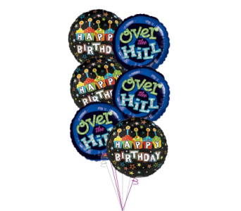Over the Hill Birthday Balloon Bouquet in Princeton, Plainsboro, & Trenton NJ, Monday Morning Flower and Balloon Co.