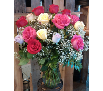 Double Dozen Medium Roses (colors may vary) in Longmont CO, Longmont Florist, Inc.