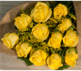 Yellow Rose Bouquet in Merrick NY, Feldis Florists
