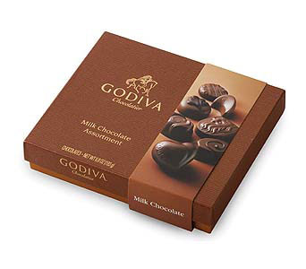 GODIVA Milk or Dark Chocolate Gift Assortment in Aventura FL, Aventura Florist