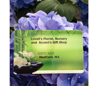 Lovell's Gift Card in Medfield MA, Lovell's Flowers, Greenhouse & Nursery