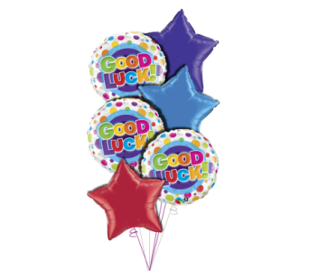 Good Luck Balloon Bouquet in Princeton, Plainsboro, & Trenton NJ, Monday Morning Flower and Balloon Co.