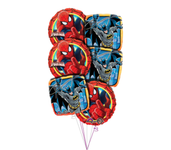 SuperHero Balloon Bouquet in Princeton, Plainsboro, & Trenton NJ, Monday Morning Flower and Balloon Co.
