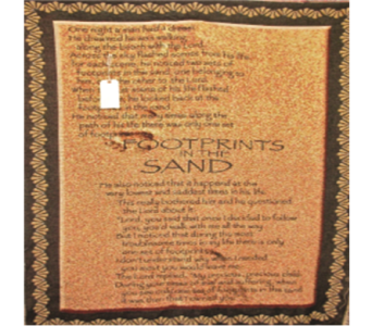 Footprints Inspirational Throw - B in Indianapolis IN, George Thomas Florist
