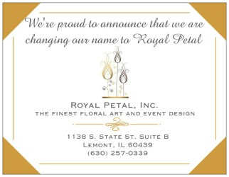 Royal Petal, Inc. in Lemont IL, Always with Flowers