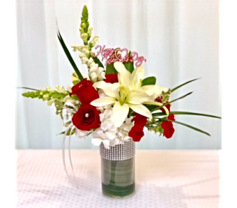 LOVEY DOVEY VASE in Titusville FL, Floral Creations By Dawn