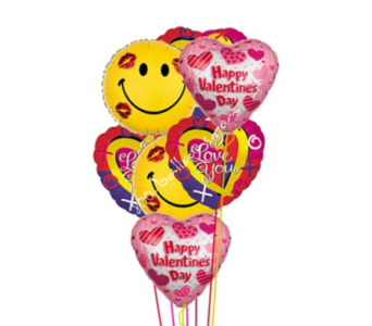 Happy Valentine's Smiles & I Love You Balloons by 1-800-balloons