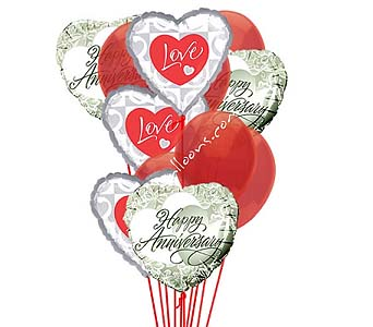Anniversary Love Balloons by 1-800-balloons