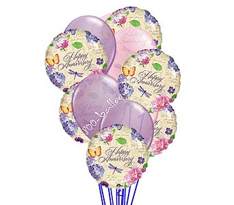 Anniversary Wishes Balloons by 1-800-balloons