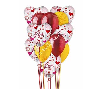 Love Divine Balloon Bouquet by 1-800-balloons