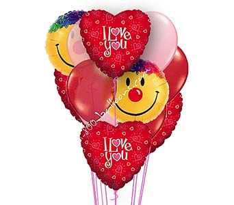 Shimmering Hearts Balloons by 1-800-balloons
