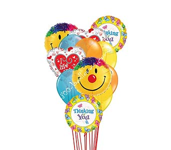 Thinking Of You With Love & Smiles Balloons by 1-800-balloons